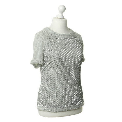 Manoush Pullover mit Metallic-Besatz