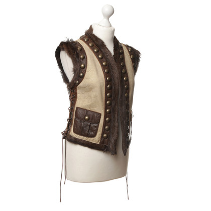 Chips Leather vest with rivets