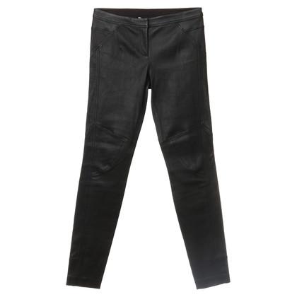 Diane von Furstenberg Leather pants in black