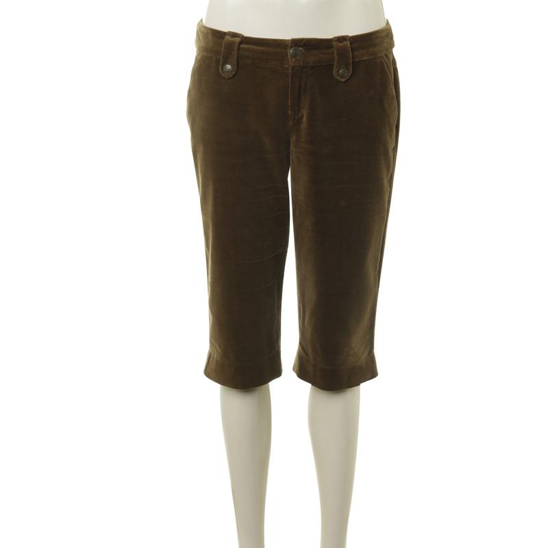 Strenesse Blue Knee-length pants made of velvet
