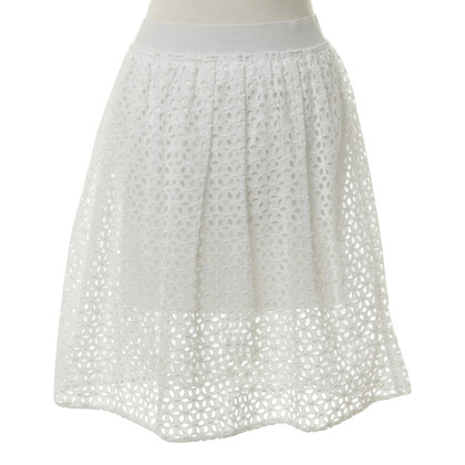 Comptoir des Cotonniers White skirt with flower trim