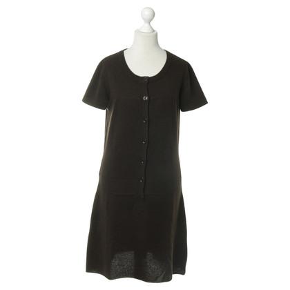 Closed Gebreide jurk in donkerbruin