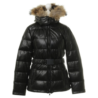 Mabrun Leather Quilted Jacket