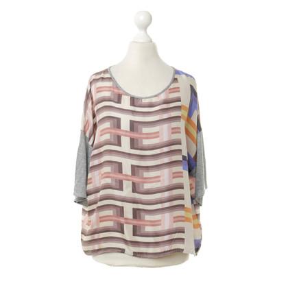 Odeeh Kleurrijke zijden shirt