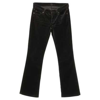 7 For All Mankind Pantalone marrone nello sguardo di velluto