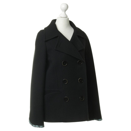 Kenzo Doppelreihiger Mantel in Schwarz