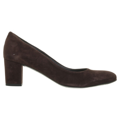 Jet Set Suede leather Pumps Brown