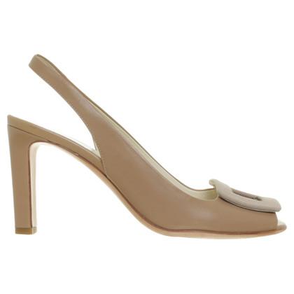 Jil Sander Slingback peep-dita dei piedi in beige