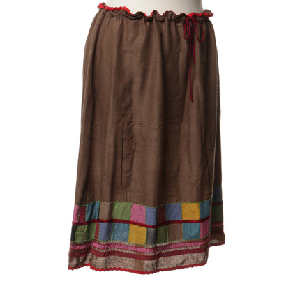 Philosophy di Alberta Ferretti skirt with colorful trim