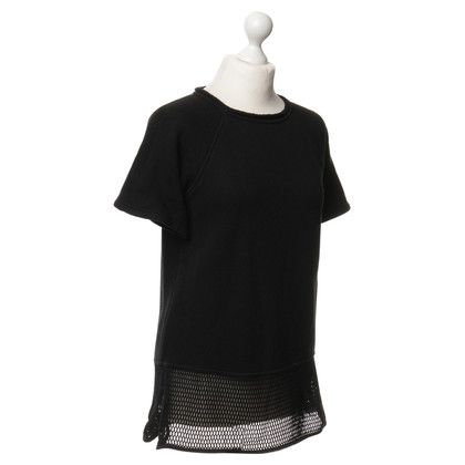 T by Alexander Wang T-Shirt mit Netz-Detail