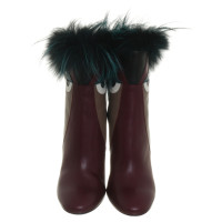 "Fendi ""Monster boots"" with fur trim"