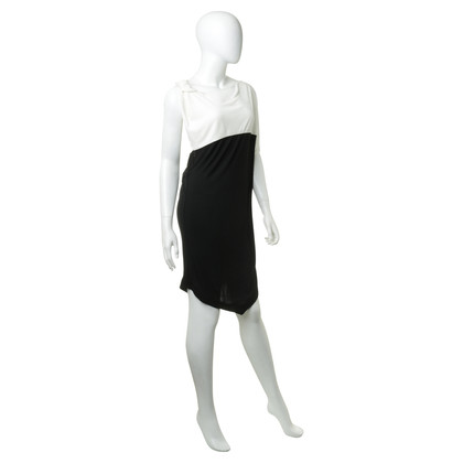 Vionnet Asymmetric dress in black and white