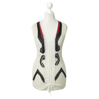 Jean Paul Gaultier Maglia top in tricolore