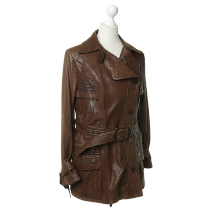 Just Cavalli Leren jas Brown