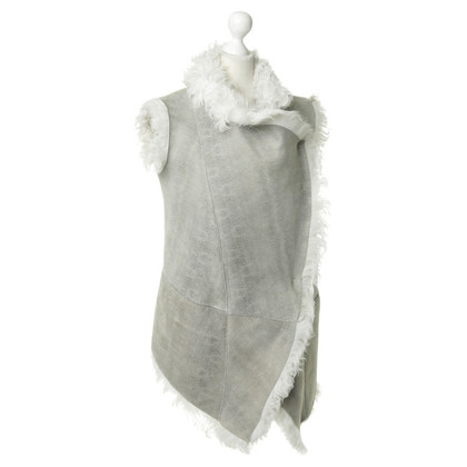 Giorgio Brato Sheepskin vest with pattern