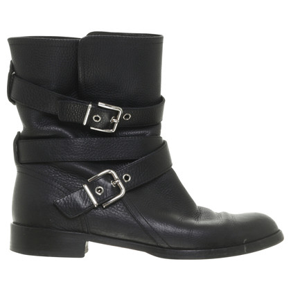 Gianvito Rossi Biker boots in black