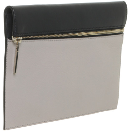 Victoria Beckham clutch in black and grey