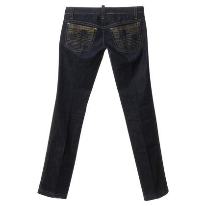 Dsquared2 Jeans met metalen borduurwerk