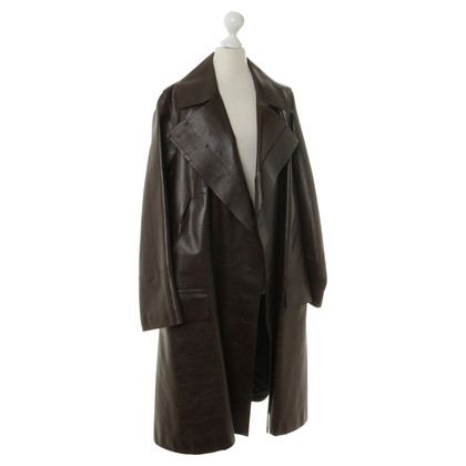 Gucci Leather coat in Brown