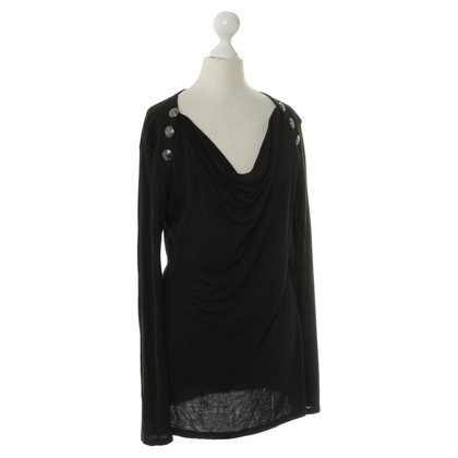 Pierre Balmain Top in zwart met knoppen