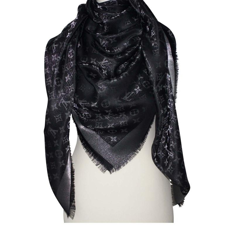 louis vuitton scarf quot monogram shine quot buy second