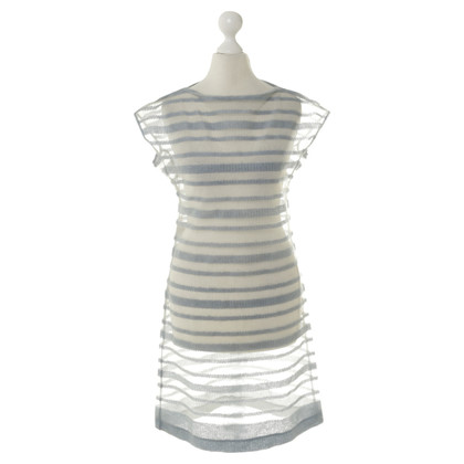 Philosophy di Alberta Ferretti Stripe dress in bright blue