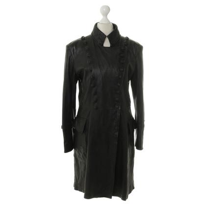 Balmain Mantel aus Leder