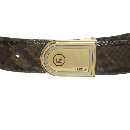 Other Designer Pierre Cardin - snake leather belt