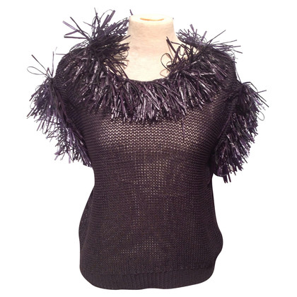 Brunello Cucinelli Knit sweater with fringes