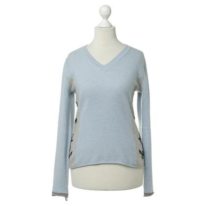 FTC Blu chiaro maglione di cashmere