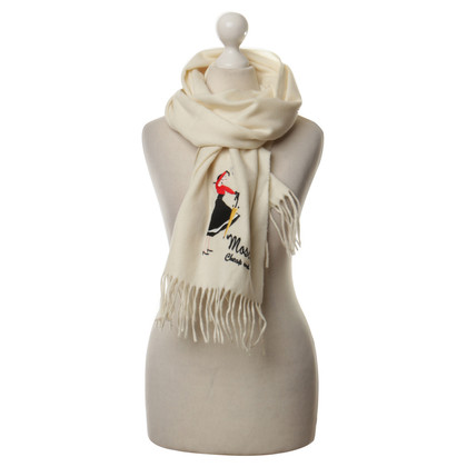 Moschino Cheap and Chic Scarf with embroidery