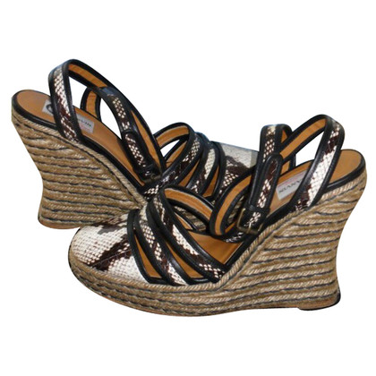 Lanvin Wedges made of Python leather