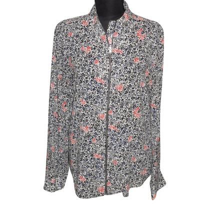 Balenciaga Floral print silk blouse