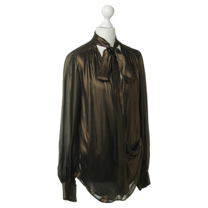 Plein Sud Bluse in Braun-Metallic