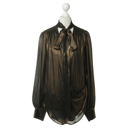 Plein Sud Blusa in marrone metallizzato