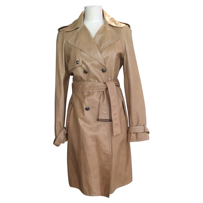 Gianni Versace Trench coat leather