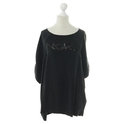 Laurèl Camicia di seta con paillettes