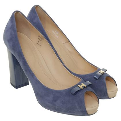 Hogan Peep-dita dei piedi in blu-chiaro