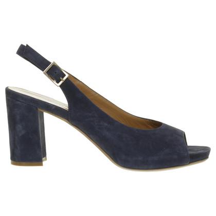 Pollini Slingback peep-dita dei piedi in blu