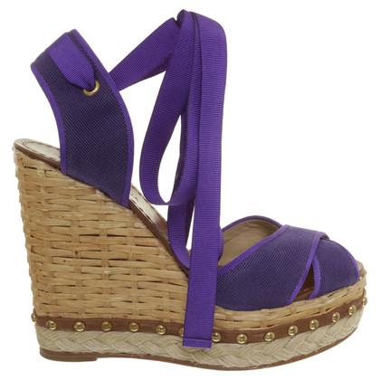 Dolce & Gabbana Plateau Sandals purple