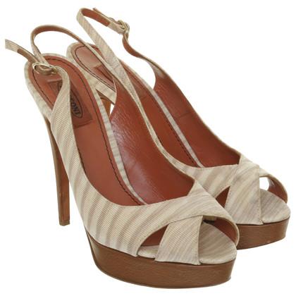 Missoni Platform peep-toes with stripes