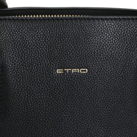 Etro Handtasche mit goldfarbenen Details Schwarz Billig Verkauf Freies Verschiffen Spielraum Bestellen Auslass Sast Steckdose Mit Master 6cRnvZ3t
