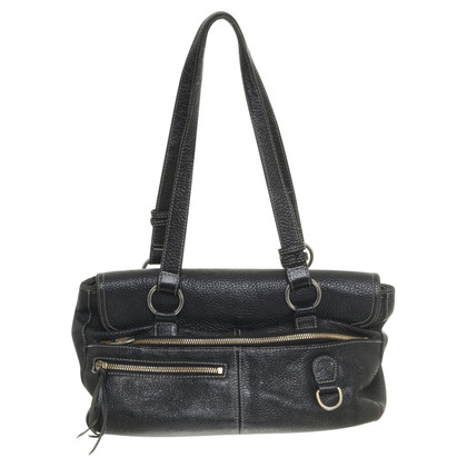 Furla Handbag in black with topstitching