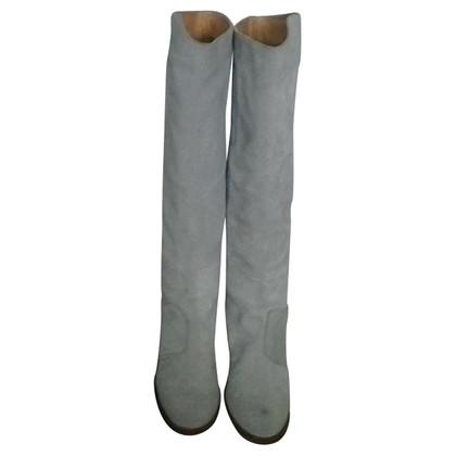 Acne Stivali di camoscio grigio chiaro