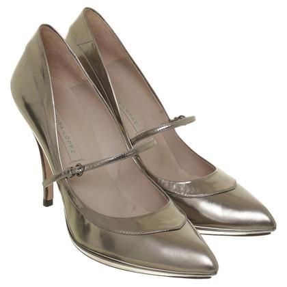 Pura Lopez pumps in argento metallizzato