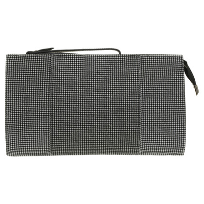 Pura Lopez clutch with Houndstooth pattern