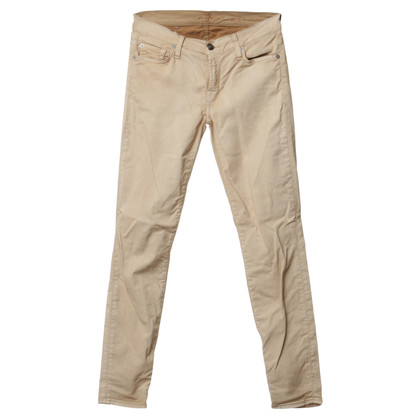 "7 For All Mankind ""The Skinny"" trousers in beige"