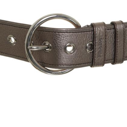 Prada Gürtel in Metallic-Ton