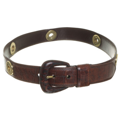Jil Sander Belt with gold accents