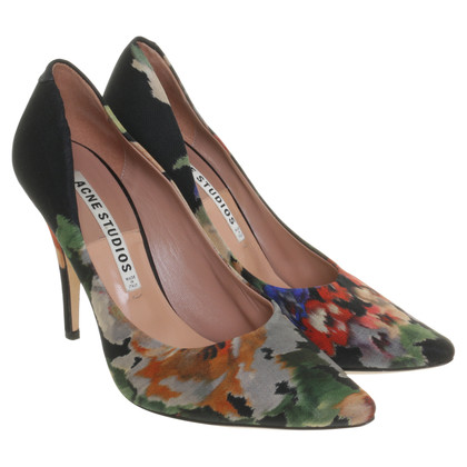Acne stampa floreale pumps